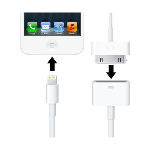 30 Pin to Lightning Adapter with Cable Preview 1