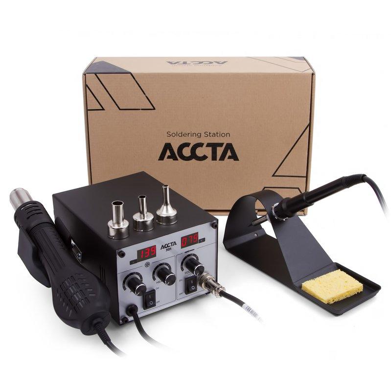 Термоповітряна паяльна станція Accta 301 Зображення 8