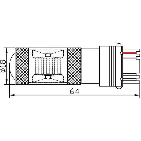 LED лампа гальмування/заднього ходу UP-7G-3156WB-30W (біла, 12-24 В) Прев'ю 1